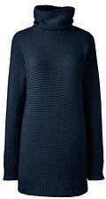 classic Women's Lofty Turtleneck Tunic Sweater-Radiant Navy $69 thestylecure.com