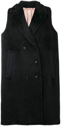 No.21 oversized sleeveless coat