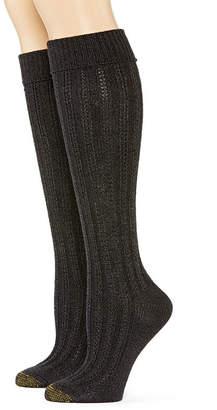 Gold Toe Womens 2-pk. Tuck-Stitch Knee-High Socks