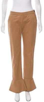 Chanel Mid-Rise Flounce Pants