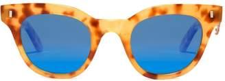 L.G.R Turkana Havana 52 flat sunglasses