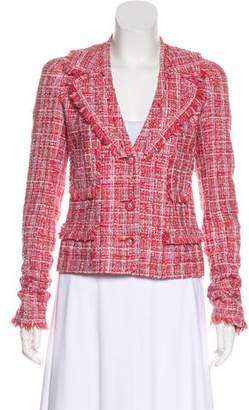 Chanel Frayed Tweed Blazer