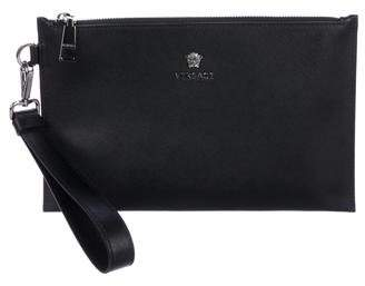 Versace Leather Zip Pouch w/ Tags