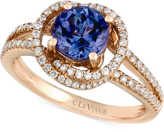 LeVian Le Vian Tanzanite (1-1/5 ct. t.w.) and Diamond (3/8 ct. t.w.) Ring in 14k Rose Gold