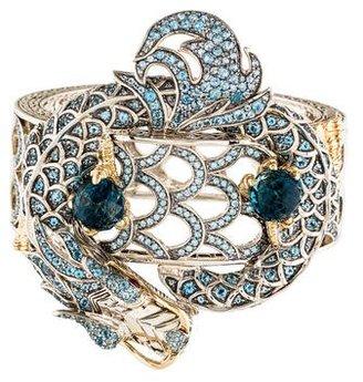 John Hardy Topaz & Ruby Legends Naga Bracelet $3,495 thestylecure.com