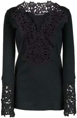 Ermanno Scervino embroidered details blouse