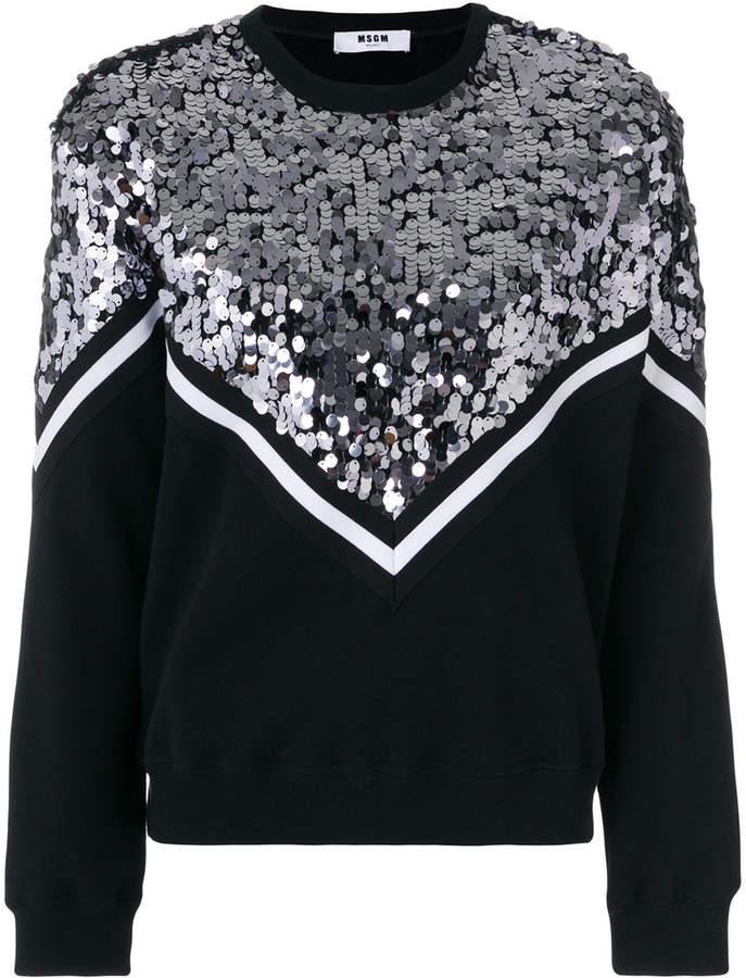 MSGM sequins embellished top