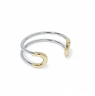 "Giles and Brother ""Cortina"" Skinny Two Tone Cuff Bracelet $140 thestylecure.com"