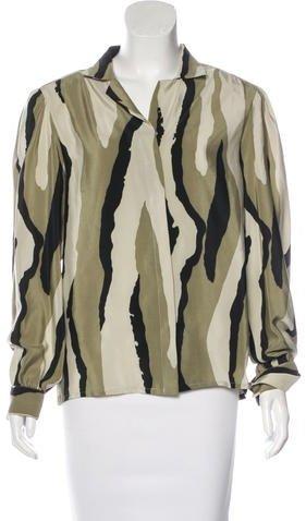Balenciaga Balenciaga Camouflage Silk Top