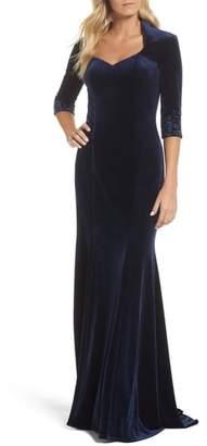 La Femme Velvet Gown