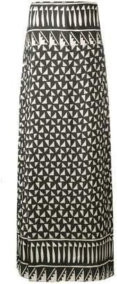 Alberta Ferretti maxi printed skirt