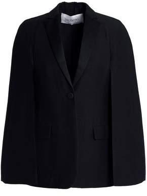 Valentino Satin-Trimmed Wool And Silk-Blend Crepe Blazer