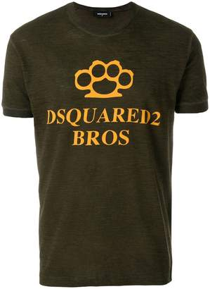 DSQUARED2 Knuckleduster print T-shirt