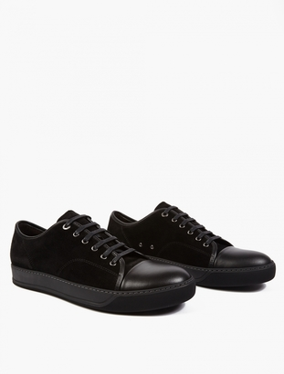 Lanvin Suede Baseball Sneakers $335.83 thestylecure.com