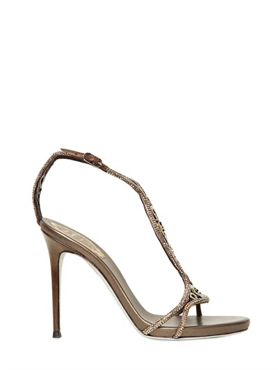 Rene Caovilla 105mm Metallic Calf & Swarovski Sandals