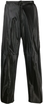 Walter Van Beirendonck Pre-Owned 2009/10's Glow faux leather trousers