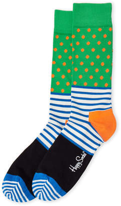 Happy Socks Stripe & Dot Crew Socks