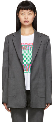 Proenza Schouler Grey Novelty Blazer