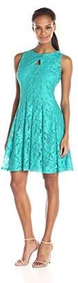 Julian Taylor Women's Sleeveless Fit and Flare Lace Key Hole Dress