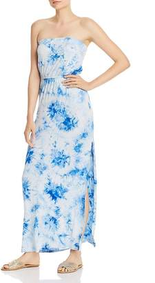 Aqua Strapless Tie-Dye Maxi Dress - 100% Exclusive