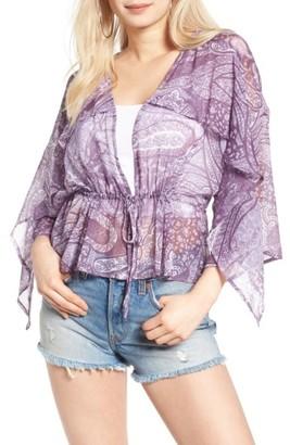 Sun & Shadow Print Kimono Top $49 thestylecure.com
