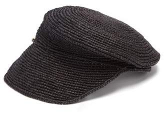 Sensi Studio - Crochet Straw Cap - Womens - Black
