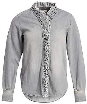 a22514420fd881 Etoile Isabel Marant Women's Denim Ruffle Shirt