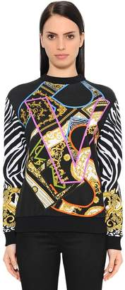 Versace Printed Cotton Jersey Sweatshirt