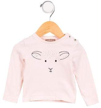 Emile et Ida Girls' Embroidered Long Sleeve Top