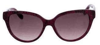 Jimmy Choo Tinted Embossed Sunglasses