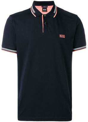 HUGO BOSS contrast trim polo shirt