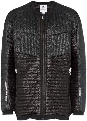 White Mountaineering Adidas By Microdown collarless padded jacket
