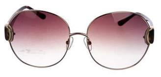 Oscar de la Renta x Linda Farrow Round Tortoiseshell Sunglasses w/ Tags