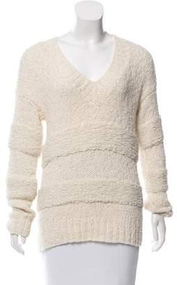 Frame Knit V-Neck Sweater