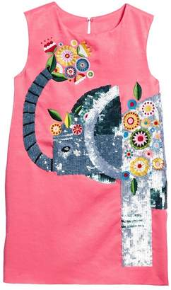 Kid Made Modern Beaded Elephant Shift Dress (Little Girls & Big Girls)