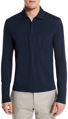 Loro Piana Ryder Cup Dry Fit Long-Sleeve Jersey Zip Polo Shirt $645 thestylecure.com