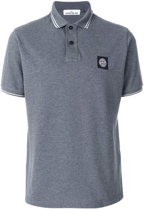 Stone Island logo patch polo top