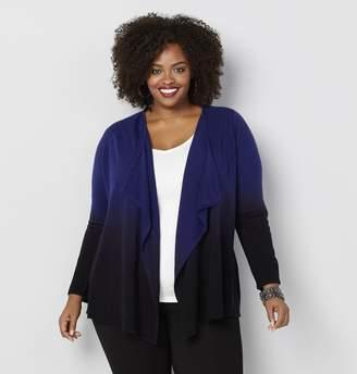 Avenue Plus Size Dip Dye Cardigan