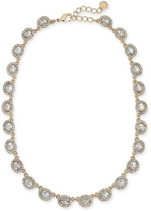 "Charter Club Gold-Tone Crystal Collar Necklace, 17"" + 2"" extender"
