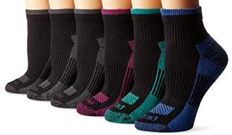 Dickies Women's 6 Pack Dritech Quarter Socks