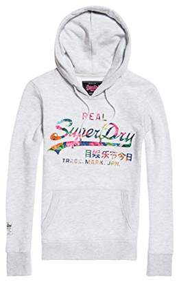 f85c7b0b Superdry Women's Vintage Logo Photo Tropical in Sports Hoodie,(Size: ...