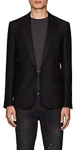 DSQUARED2 Men's Wool-Silk Piqué Sportcoat - Black Size 48 Eu