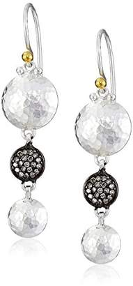 """Gurhan Lentil Ice"""" Sterling and Diamond Pave Drop Earrings"""