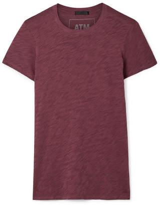 ATM Anthony Thomas Melillo Schoolboy Slub Cotton-jersey T-shirt - Burgundy