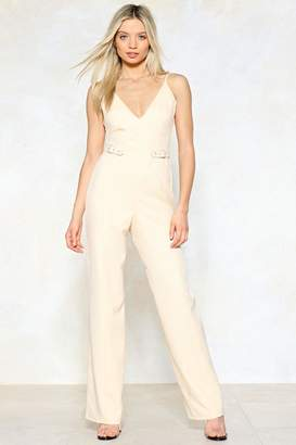 Nasty Gal Don't Waist My Time Wide-Leg Jumpsuit
