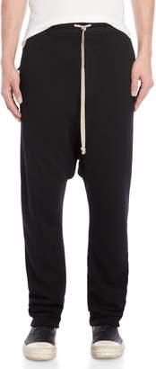 Rick Owens Black Drop Crotch Sweatpants
