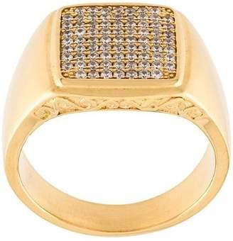 Nialaya Jewelry embellished signet ring