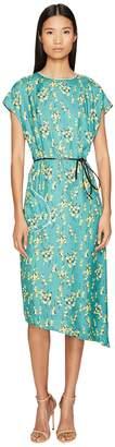 Sonia Rykiel Roses Print Maxi Dress with Belt Women's Dress