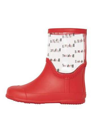 Burberry Frosty Logo-Print Transparent Rain Boots, Toddler/Kids