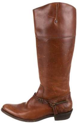 Frye Buckle Accent Riding Boots